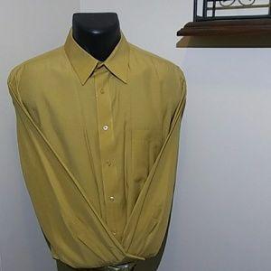 pierre cardin gold long-sleeve dress shirt